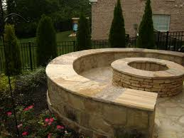 Firepit Bench by Outdoor Stone Fireplaces And Stone Fire Pits Lawn Service