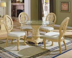 antique white dining room antique white traditional 5pc dining set w clear glass top