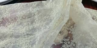 Wedding Dress Fabric Aliexpress Com Buy Organdy Flower Embroidery Lace Fabrics
