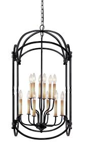 Indoor Hanging Lantern Light Fixture World Imports 61408 42 Hastings Collection 6 Light Hanging Lantern