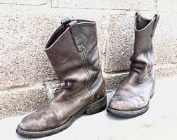 1114 best bottes souliers bottes vintage wing pecos 1114 brown leather engineer motorcycle
