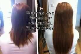 micro ring hair extensions aol micro loops hair extensions before and after triple weft hair