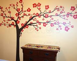 floral tree wall decals flowers tree stickers decals