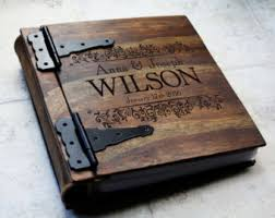 leather wedding albums wood wedding album etsy