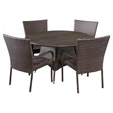 Christopher Knight Patio Furniture Reviews Grant 5pc Wicker Patio Dining Set Brown Christopher Knight Home