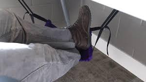 students invent u0027foot hammock u0027 that attaches under desk to help