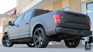Ford F150 Truck Wraps - kc trends showcase dub skillz s123 in custom matte black