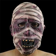 halloween latex mask mummy zombie head mask scary extremely