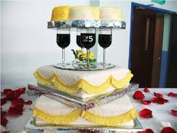 wonderful 25th wedding anniversary cake and drink weddingood