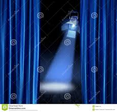 Blue Curtains Stage Spotlight Blue Curtains Stock Photography Image 22065722