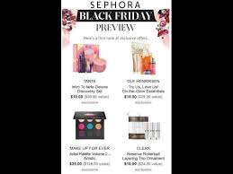 does sephora have black friday sales sephora black friday ad 2016 youtube