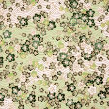 japanese style green sakura and wave paper texture stock photo japanese style green sakura and wave paper texture stock photo 11745973