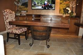 Mediterranean Dining Room Furniture Wine Barrel Dining Table