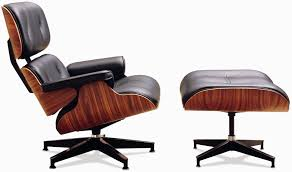 Eames Style Rar Molded Black Dining Room Comfortable Lounge Chair Design With Black Leather