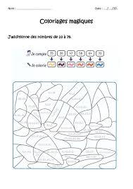 additionner des nombres de 10 à 79 cp ce1 coloriage magique