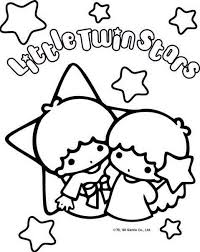 sanrio coloring pages sanrio characters coloring pages coloring page little twin