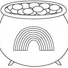 rainbow pot of gold coloring pages a pot of gold with rainbow picture for st patricks day coloring
