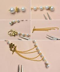 how to make a simple tibetan style pearl stranded necklace with