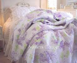 lavender lilac full queen quilt shabby chic romantic home cottage