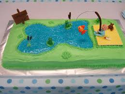 fishing themed baby shower fishing themed baby shower cake cakecentral