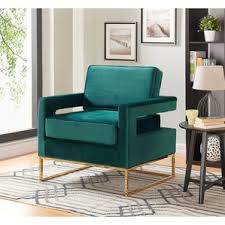 Teal Armchair For Sale Velvet Chairs You U0027ll Love Wayfair