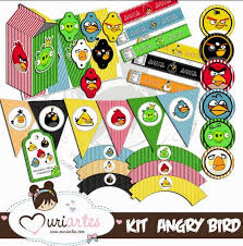 angry birds free printable party kit fiesta geeks