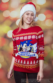 christmas sweater sonic the hedgehog unisex knitted christmas sweater jumper merchoid