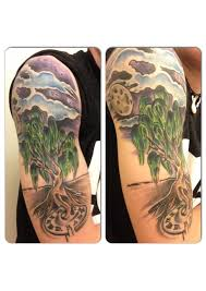 time tree sleeve tattoos in 2017 real photo pictures images and