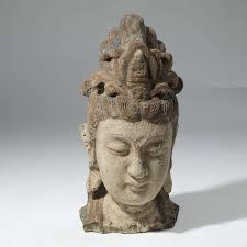 Decorative Buddha Head Oriental Guanyin Buddha Head Sculpture T4010 Tyson London