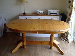 pine dining room table oval extending solid pine dining room table in grantham