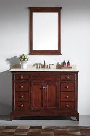 Inch Brown Bathroom Vanity Set With White Carrera Marble Top - Carrera marble bathroom vanity