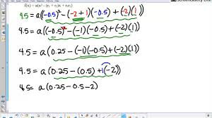 writing a quadratic function from the roots and the vertex