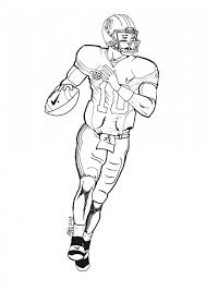 Football Player Coloring Pages Printable Kids 35184