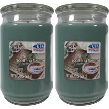 mainstays 2 pack scented candles soothing spa 20 oz walmart com
