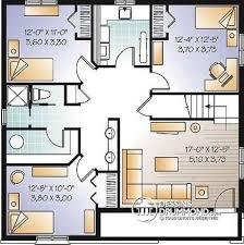 plan de maison plain pied 5 chambres dé du plan de maison unifamiliale w3151