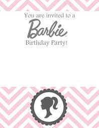 Barbie Invitation Card Sew Darn Cute Barbie Birthday Free Template