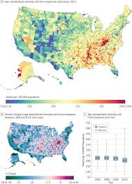 Montana Counties Map by Disparities In Cancer Mortality Among Us Counties 1980 2014
