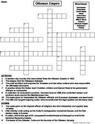 Ottoman Empire Government System Ottoman Empire Crossword Puzzle By Sciencespot Teaching