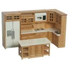 miniature dollhouse kitchen furniture oak kitchen set 6pc dollhouse furniture miniatures and miniature