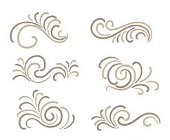 curlicues ornament vectors vector graphics