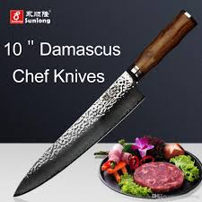 sunlong 10 inch chef knives damascus steel slicing knives vg10