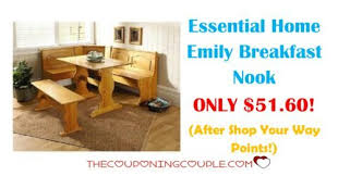 breakfast nook table only essential home emily breakfast nook only 51 60 was 179 99