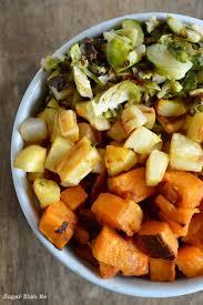 rainbow harvest roasted vegetables sugar dish me