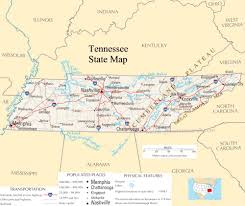 Map Of Nashville Tn Tennessee State Map A Large Detailed Map Of Tennessee State Usa