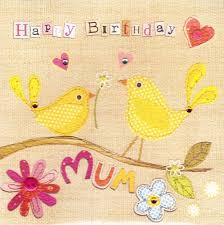 mum yellow birds birthday card karenza paperie