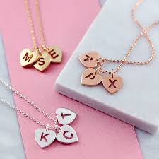 Necklace With Initials Personalised Initial Heart Necklace By J U0026s Jewellery