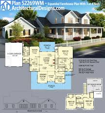 plan 52269wm expanded farmhouse plan with 3 or 4 beds farmhouse