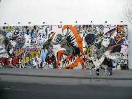 on houston street faile installs a comic style mural arts observer the mural measures 20 x 60 feet