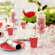 wedding party plates free shipping 60pcs 7 polka dot paper plates wedding party table