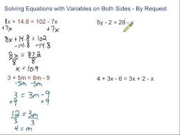 Multi Equations With Variables On Both Sides Worksheet Equations With Variables On Both Sides By Request